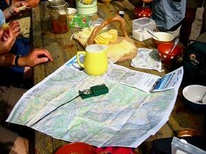 Kaart en kompas Kiental