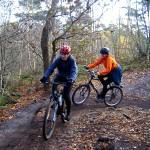 MTB 2 fietsers bossen Leuven