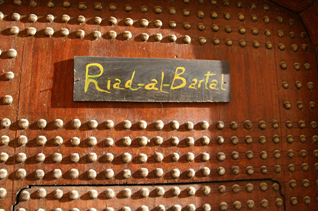 Riad al Bartal deur